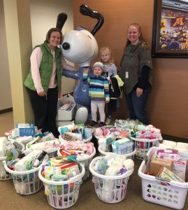 Fundraise cradle of hope optum hosted a baby shower where they collected items for 20 wellness baskets that were distributed to families so mom and baby could begin their new negle Images
